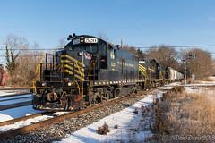 W&W 520 @ Fairton, NJ (Dan A. Davis) Tags: winchesterandwestern ww shortlinerailroad gp9 cm10 freighttrain railroad locomotive train nj newjersey fairton cedarville dividingcreek