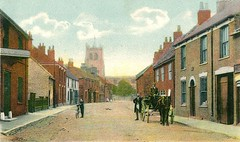 Preston 1901 (archive ref PO-1-108-1) (East Riding Archives) Tags: historic east yorkshire village villages vintage streets houses preston horse cart people church churches