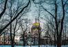 woods (elegnana) Tags: sanpietroburgo russia wood woods cupola church sky winter