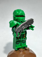 Doom Guy... OR Master Chief (elberik) Tags: lego minifigure custom video game green scifi doom guy master chief