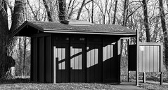 A Place to Go (Jim Frazier) Tags: instagram frazierstock 2018 20180127photodrive bw bathroom blackandwhite building clipart countypark desaturated dupage forest forestpreserve il illinois january jimfraziercom kane monochrome outhouse park pit prattswaynewoods restroom sanitary sewer toilet wayne winter latrine lavatory washroom wc water closet comfort station loo privy outbuilding john head potty q3