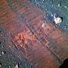 Opportunity's Tracks on Mars, variant (sjrankin) Tags: 20february2018 edited nasa mars rgb colorized opportunity bands257 tracks wheeltracks sand dust endeavourcrater