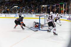 """Kansas City Mavericks vs. Indy Fuel, February 17, 2018, Silverstein Eye Centers Arena, Independence, Missouri.  Photo: © John Howe / Howe Creative Photography, all rights reserved 2018 • <a style=""""font-size:0.8em;"""" href=""""http://www.flickr.com/photos/134016632@N02/39490836695/"""" target=""""_blank"""">View on Flickr</a>"""