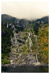 Milford Sound (AdrienMD) Tags: new zealand milford sound fjords camping tent pacific ocean southern south island waterfall cliff