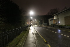 Cray Valley,22 (doojohn701) Tags: streetlighting road trees vegetation buildings commercial cray valley reflection raining viaduct uk