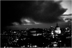 London and the prevailing weather. (Fotofricassee) Tags: london saint pauls clouds lights