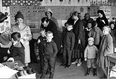 Can you take this one as well (theirhistory) Tags: boy child kid school class mother lady parent coat girl jacket trousers shoes wellies classroom hat boots form pupils students education