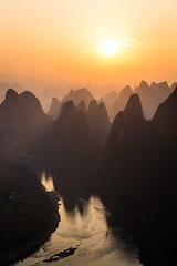 Guilin Sunrise (mlhell) Tags: china guilin karstmountains landscape mountains nature river rural sunrise