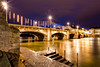 Swiss Rhinegold (Blende57) Tags: basel basle rhine rhein river flow water longexposure bluehour nightphotography cityscape riverscape switzerland schweiz wideangle lightstars embankment