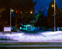 Night visit to the shrine (threepinner) Tags: ichikishiri shrine mikasa hokkaidou hokkaido northernjapan japan night fujica gf670 ebcfujinon 80mm f35 negative iso160 reversal negaposidevelopment selfdeveloped ネガポジ現像 三笠 市来知神社 北海道 北日本 日本