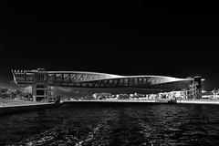Corkscrew Bridge (T.Seifer : )) Tags: architecture blackandwhite blackwhite bw bridge cityscape dubai einfarbig fx canal monochrome outdoors photography travel water tourism whiteandblack whiteblack uae wasser