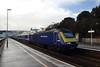 43196 Dawlish, Devon (Paul Emma) Tags: uk england dawlish devon railway railroad dieseltrain train sea coast beach 43196 hst