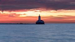 Chicago Harbor Lighthouse (igzabeher) Tags: longexposure chicagoharborlighthouse navypier sunrise lakemichigan rivernorth longexposurephotography illinois seascape lake chicago lighthouse unitedstates us