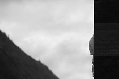 Porta dos Descobrimentos (Elios.k) Tags: horizontal outdoors nopeople monument discoverersgate portadosdescobrimentos face sculpture relief sideview rock dof depthoffield focusinforeground backgroundblur mountain cloudysky weather colour color travel travelling june2017 summer vacation canon 5dmkii photography island povoação povoacao saomiguel acores azores portugal europe