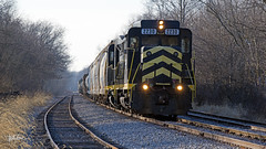 Friday Clean-Up Train on the Indiana Northeastern (Troy Strane) Tags: indiana northeastern hamilton wabash manifest nikon d850 grouptripod