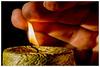 A Lick Of Flame II (EddieAC) Tags: macromondays flame candle burn hand fingers flash