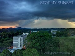 Stormy Sunset (tomquah) Tags: storm thunderstorm tomquah clouds inspiredbylove cloudsstormssunsetssunrises weather sunsetlandscape dramatic huaweimate9 leicaduallens