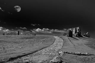 Moonlight at Duffus Castle