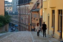 Stoccolma, un pomeriggio d'estate in Urvädersgränd (Södermalm) (Valerio_D) Tags: stockholm södermalm 2017estate sverige sweden svezia stoccolma 1001nights 1001nightsmagiccity