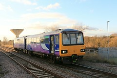 Northern 144013 2nd February 2018 Thorne South (asdofdsa) Tags: thornesouth railway staition southyorkshire southend transport trains locomotive loco dm dmu northernrail watertower