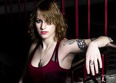 Test shoot - Morgan (2) (FightGuy Photography) Tags: blonde tanktop tattoo armtattoo morgan testshoot