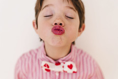 Happy Kissy-Kissy Day! (Elizabeth Sallee Bauer) Tags: 5yearold feburary bonding boy child childhood children cute happiness heart hearts kid kiss lips love pink red together togetherness valentines valentinesday younglove