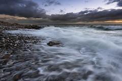 Hundested (Tony N.) Tags: danemark denmark hundested sea mer seascape seashore water eau filé sunset coucherdesoleil couchant galets pebbles nikkor1635f4 nikon vanguard tonyn tonynunkovics