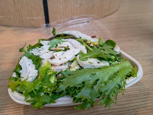 Saturday lunch. Chicken salad sans dressing.