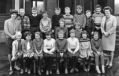 Class Photo (theirhistory) Tags: children kids boys school class form trousers shirt jumper wellies girls teacher dress skirt shoes boots