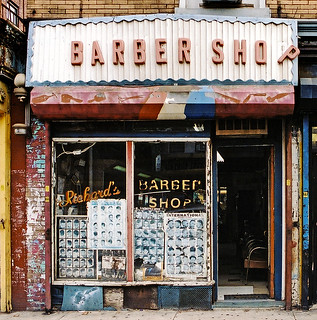 Richard's Barber Shop in Crown Heights, Brooklyn.