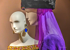 YSL-1 (albyn.davis) Tags: museum exhibit fashion colors purple vivid vibrant paris ysl hat