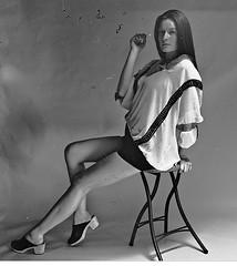 Vintage Tricia 2 (neohypofilms) Tags: series vintage 120 medium format analog retro bw blackandwhite style fashion legs shoes clogs hair shadows light hippie 60s 70s film hasselblad girl model women female classic skirt tall long 2018