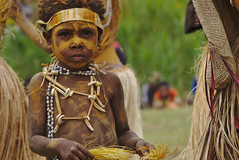 Child in traditional dance (eomer1) Tags: papua new guinea scripture celebration papuanewguinea yellow child dance traditional