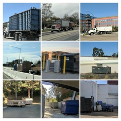 Dumpster Collage 3-4-18 (Photo Nut 2011) Tags: california garbage trash wastedisposal waste sanitation truck garbagetruck trashtruck refuse junk dumpster sandiego