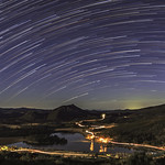 Star Trails Over Lake Cuyamaca. Different Processing thumbnail