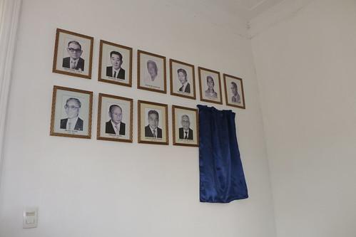 Revelação do retrato de Jorge Ajifu na Galeria de Ex-presidentes da Associação Japonesa de Santos