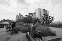 High Line, NYC (CURZU@) Tags: high line nycusa newyorkcity newyork nuevayork canon eos canoneos80d gente people couple parejas descansando monocromo bw blackandwhite blancoynegro