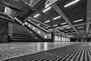 Vanishing Points (laga2001) Tags: architecture empty monochrome blacknwhite modern contemporary guiding leading lines light shadow grey low pov perspective urban inside station underground subway composition black white bnw bw contrast