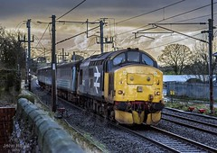 37403 at Bay Horse on 19 Jan 18 (John_Hales) Tags: preston rail railway train trains networkrail lancashire 37403 class37 englishelectric carlisle barrow furness loco sellafield tebay oxenholme drs carnforth cumbria lancaster bayhorse