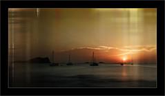 Cala Conta (Jean-Louis DUMAS) Tags: sunset sunrise sun coucherdesoleil water eau mer ibiza espagne bateau boat îles océan sony