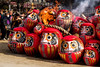 Gunma daruma festival. Burning traditional doll at Maebashi (red-illusion) Tags: gunma daruma festival burning traditional doll maebashi