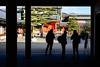 Sanjusan Silhouette (thedailyjaw) Tags: sanjūsangendō sanjusan temple shrine kyoto japan japanesegarden japanese culture spirituality spiritual prayer religion blueandorange orangeandblue tones d610 50mm silhouette silhouettes higashiyama rengeōin hallofthelotusking 1000kannonstatues statues gold