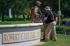 (TITFF) This Is Texas Freedom Force Protest Against the Removal of Robert E. Lee statue from Dallas Park (Shane B. Murphy - Photographer) Tags: guns second amendmemt rifle fatigues military texan texas tx open carry rally protection murica photographer news protest dpd confederate anticonfederate peaceful