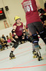 134 (Bawdy Czech) Tags: lcrd lava city roller dolls cinder kittens cherry bomb brawlers skate rollerskate bout bend oregon or february 2018 juniorderby juniors rollerderby lavacityrollerdolls