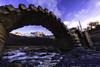 The old bridge (ramon.vmorales) Tags: búbal puente embalse piedra stone montaña mountain pirineos aragón huesca sunset ocaso rio river españa spain