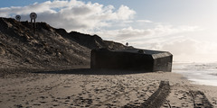 Military Artifacts (dheisselmann) Tags: 2018 beach bunker d750 denmark dunes nikon winter atlanticwall atlantikwall sunset