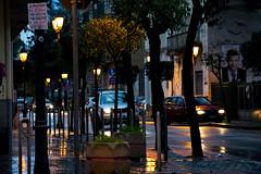 Down the streets (Gaspavar's) Tags: streets city street photography lights car pp ps photoshop postproduction postproduzione battipaglia italia italy campania trees cars reflex nikon d3400
