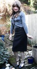 Favourite Pencil (Amber :-)) Tags: black pencil skirt tgirl transvestite crossdressing