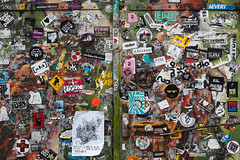 Sticker Door (Lens Daemmi) Tags: berlin friedrichshain sticker door