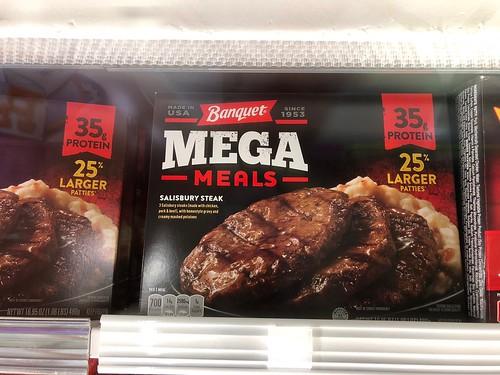 3 Salisbury Steaks! Mega!